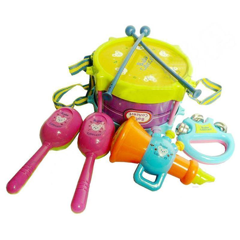 Musical Instruments Playing Set Educational Baby Toys (5 Pcs/Set) - IGOGES