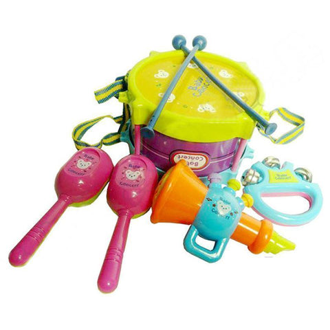 Image of Musical Instruments Playing Set Educational Baby Toys (5 Pcs/Set) - IGOGES