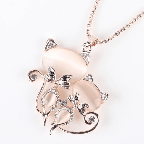 Image of Cat Necklace Women Fashion Jewelry Statement Accessories - IGOGES