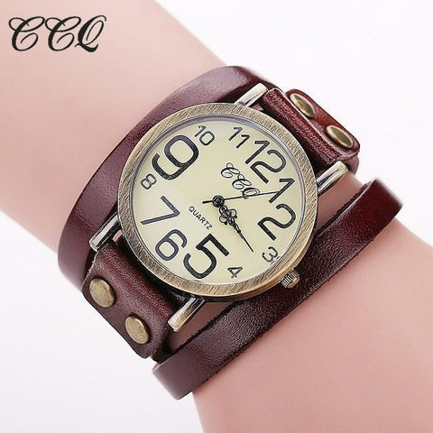 Image of Stylish Cow Leather Watch For Ladies