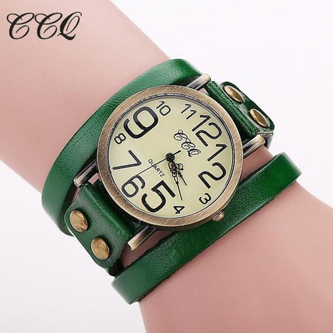 Stylish Cow Leather Watch For Ladies