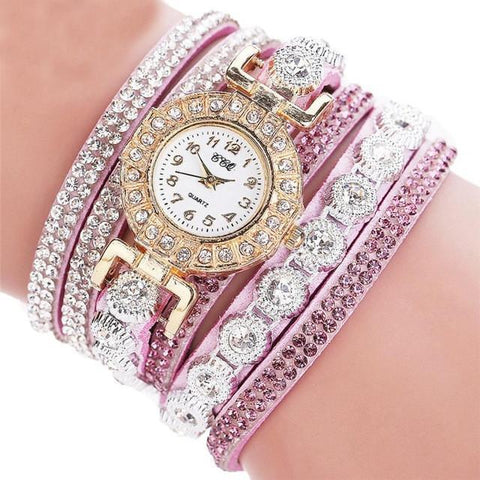 Women Watches Casual Analog Quartz Watch Rhinestone