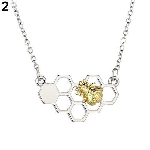 Fashion Necklace Heart Honeycomb - IGOGES