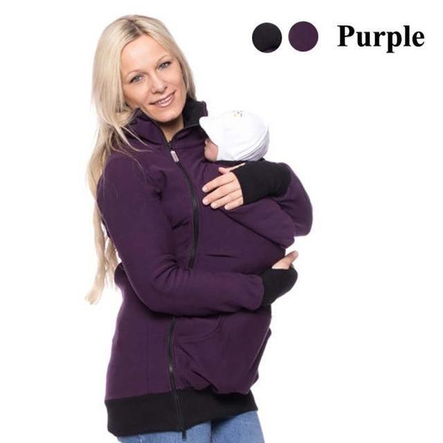 d590caaa8d2e MATERNITY BABY WEARING HOODIE - IGOGES. Hover to zoom