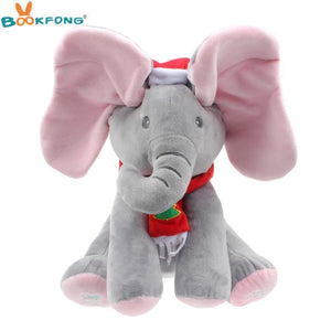 Christmas Peek A Boo Elephant Plush - IGOGES