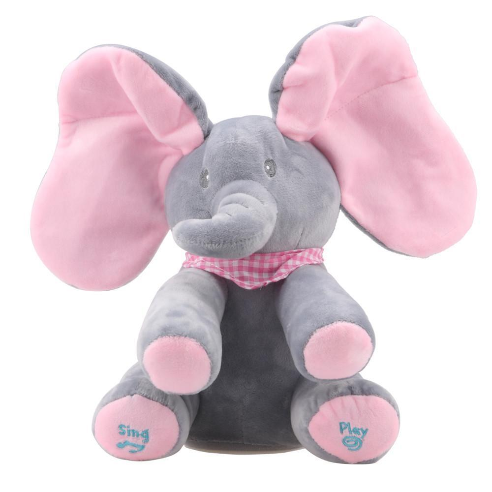 Baby Animated Flappy The Elephant Plush Toy - IGOGES