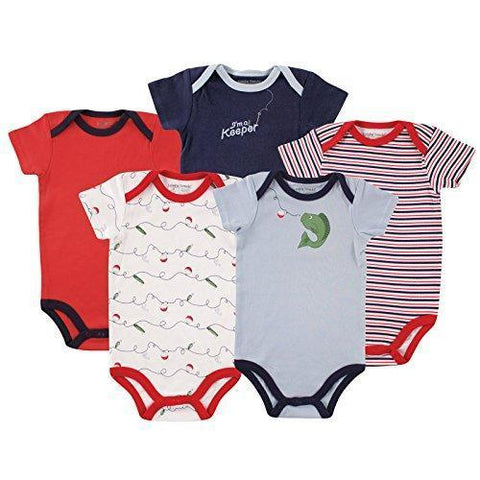 Image of Luvable Friends Baby Cotton Bodysuits - IGOGES