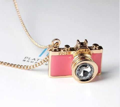 Image of Vintage Colorful Camera Necklace