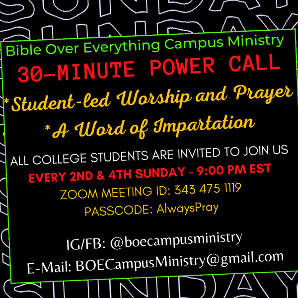 About the BOE Campus Ministry