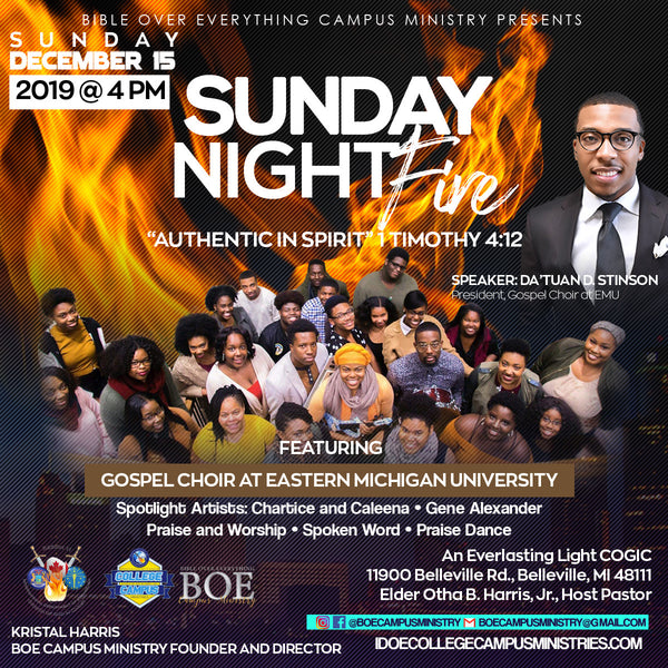 "Sunday Night Fire 2019: ""Authentic In Spirit"""