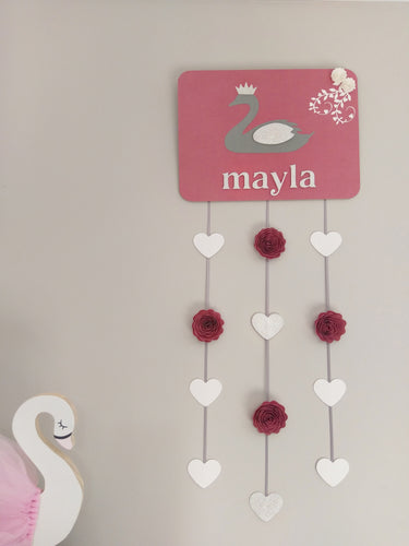Girls Personalised Wall Hanging