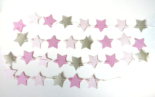 Pink and Gold Star Garland