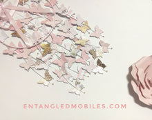 Blush and Gold butterfly mobile