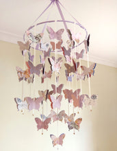 Mauve Butterfly Mobile