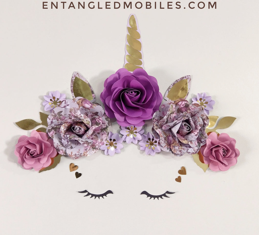 Unicorn Flower Decor