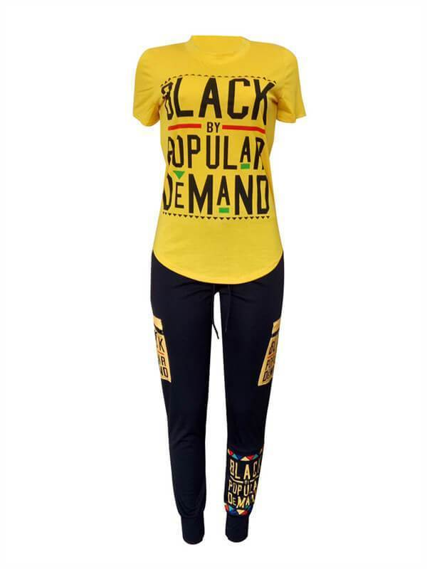 Graphic Top & Pants Set--Clearance