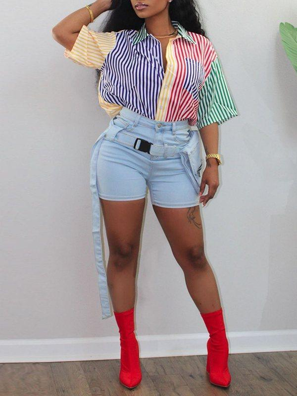 Multicolor Stripe Combo Shirt