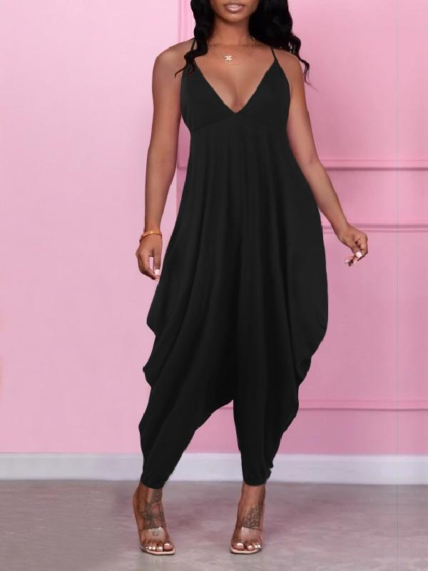 Solid Slouchy Cami Jumpsuit