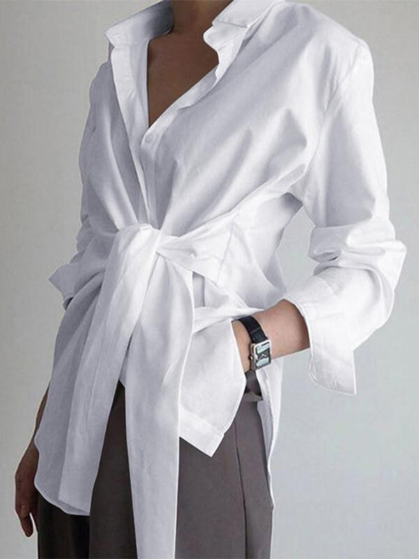 Solid Tied Shirt