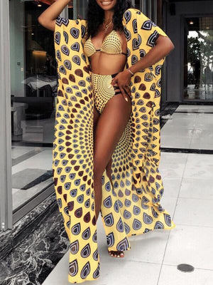 African Print Bikini with Cover-up