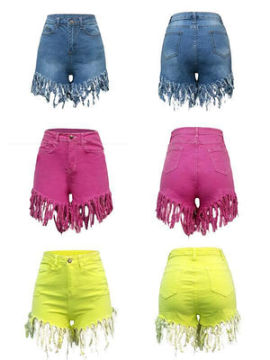 Tassels Denim Shorts