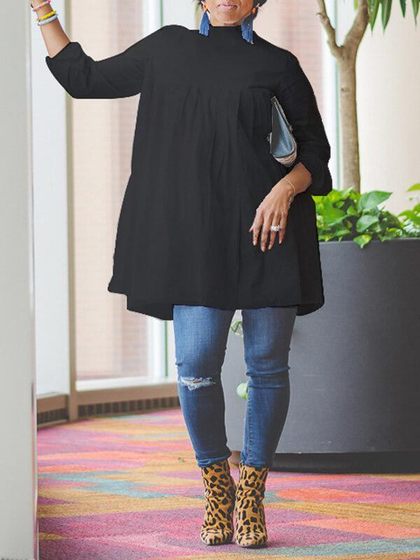 Solid High Neck Tunic