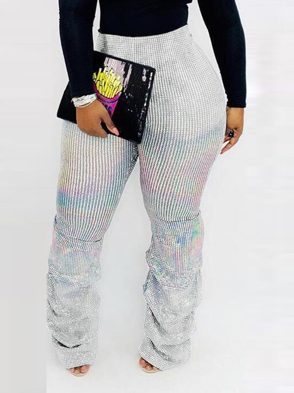 Asymmetric Gleam Pants