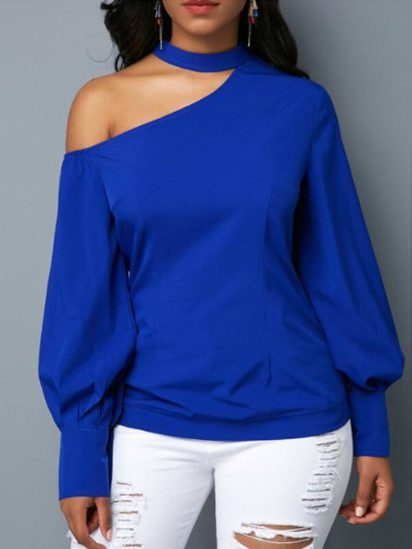 Cutout Puff-Sleeve Top--Size S