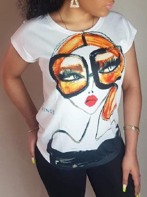 Girl With Glasses Tee--Clearance