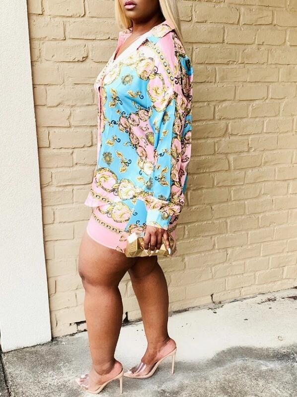 Printed Shirt & Shorts Set