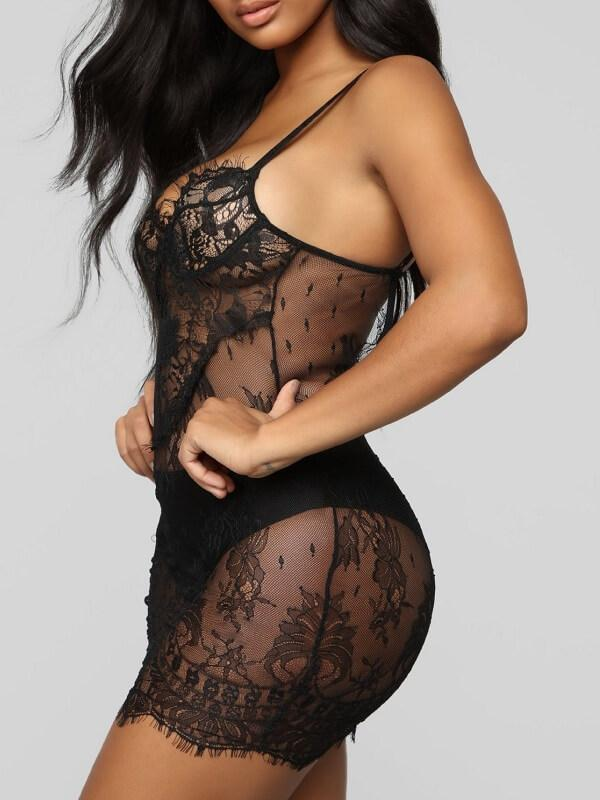 Embroidered Lace Cami Chemise
