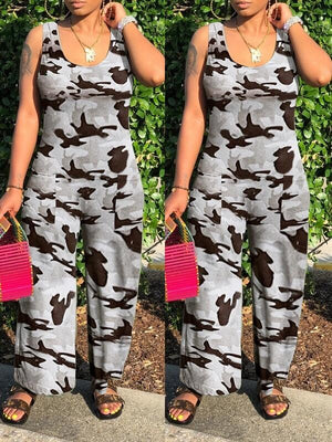 Scoop-Neck Sleeveless Jumpsuit