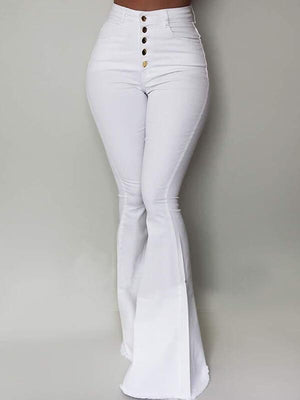 High-Waist Flared Pants