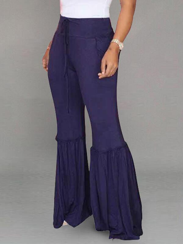 Pleated Flared Pants