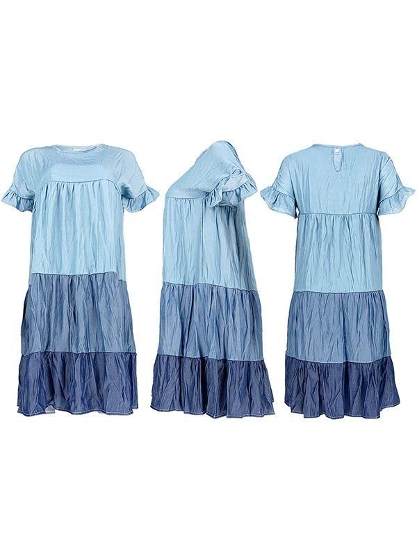 Ruffle Combo Dress