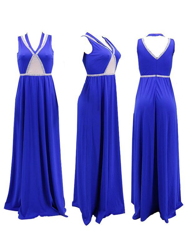 Halter Sleeveless Maxi Dress