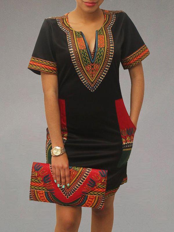 Dashiki Tee Dress