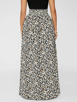 High-Waist Leopard Skirt