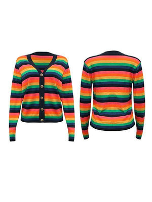 Multicolor Stripe Cardigan