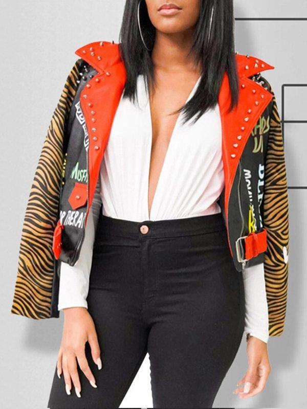 Tiger Faux-Leather Jacket