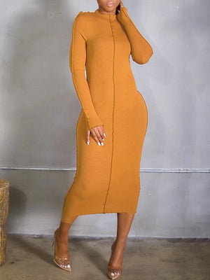 Ribbed Combo Dress