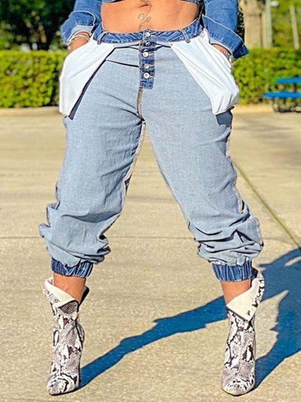 Inside-Out Jogger Jeans
