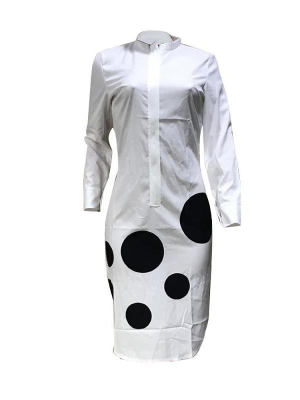 Dot Print Shirt Dress