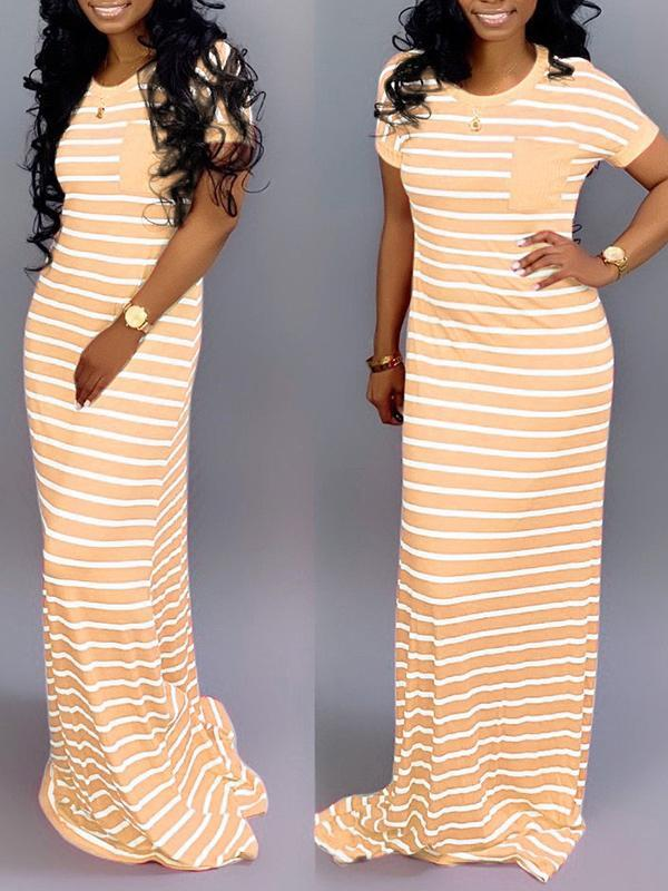 Striped Maxi Tee Dress