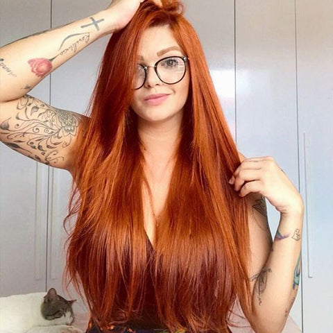 Popular shades of red hair, bright copper | Price Attack