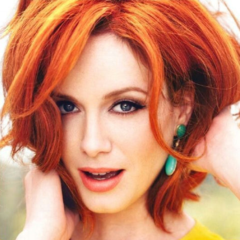 Popular shades of red hair, Christina Hendricks | Price Attack