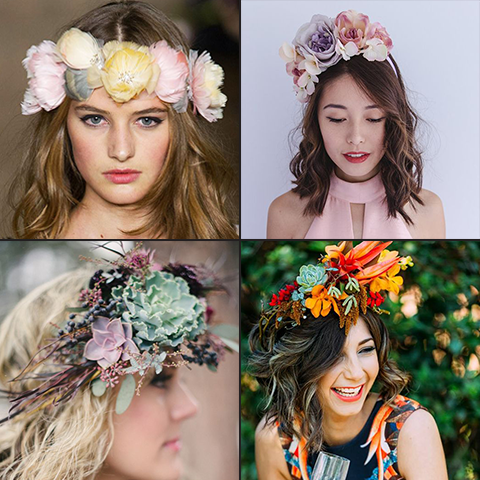 Pair relaxed wavy curls with a fun and feminine floral crown - race day hair | Price Attack
