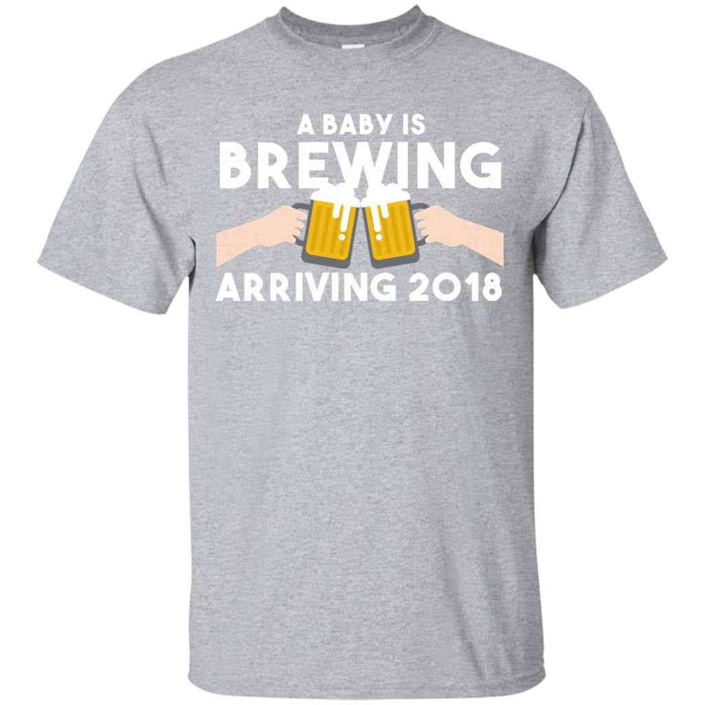 A Baby is Brewing Arriving 2018 Pregnancy Announcement Shirt