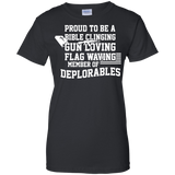 American Flag Tshirt Proud To Be A Deplorable Proud To Be A Veteran