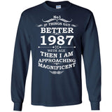 1987 birthday tshirt - If things get better with age shirt